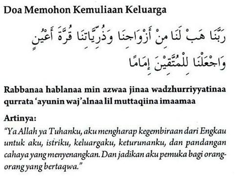 Berikut ini adalah kumpulan doa - doa mustajab: