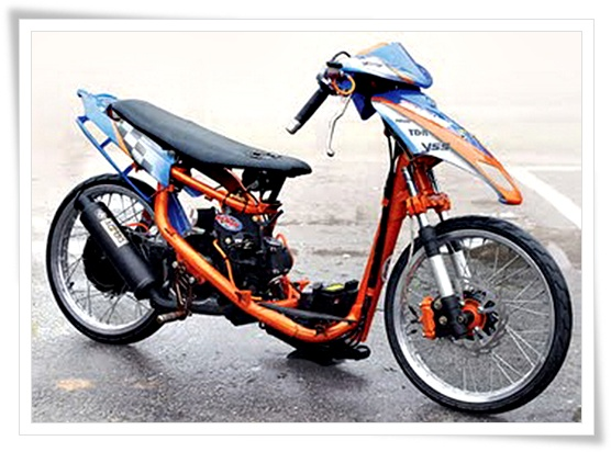 modifikasi motor metik