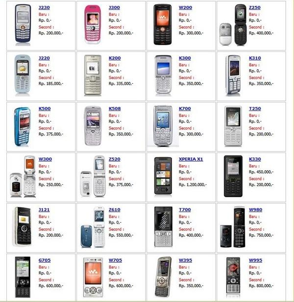 Daftar Harga Handphone Harga Hp Harga Ponsel Baru