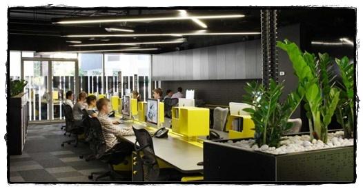 Berikut ini adalah 10 interior kantor ternyaman di dunia: