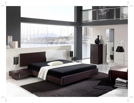 Contoh konsep desain kamar tidur elegan, modern dan nyaman