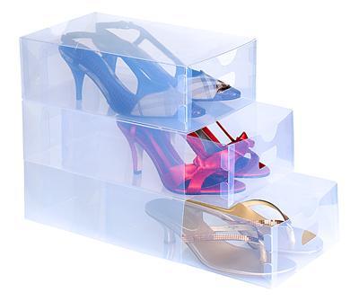 kotak sepatu transparan