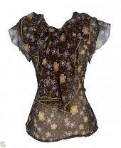 Malvina blouse coklat