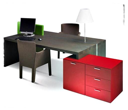 desain meja kerja modern