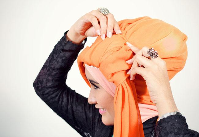 Cara Memakai Turban Hijab Style Mode Fashion Carapedia