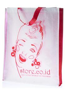 Tote Bag Pink Putih edisi Genit
